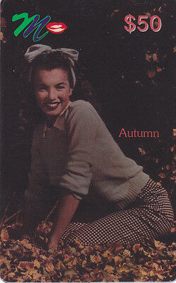 Marilyn Monroe - phone card - ACMI - Autumn