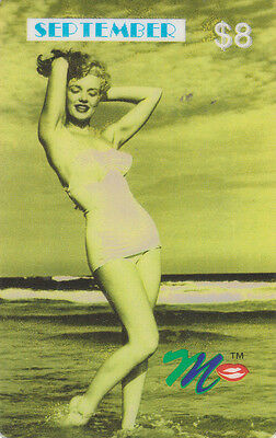Marilyn Monroe - phone card - ACMI - September