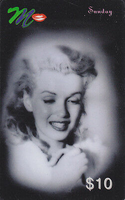Marilyn Monroe - phone card - ACMI - Sunday