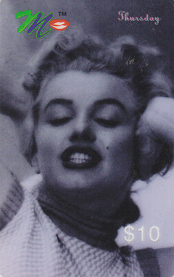 Marilyn Monroe - phone card - ACMI - Thursday
