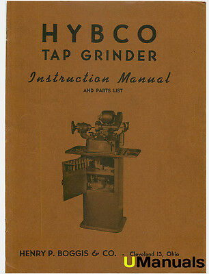 Hybco Tap Grinder Instruction and Parts Manual
