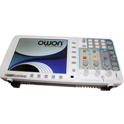 """New OWON 100Mhz Oscilloscope SDS7102 1G/s large 8"""" LCD LAN VGA battery included"""
