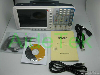 """New OWON 100Mhz Oscilloscope SDS7102 1G/s large 8"""" LCD LAN VGA included 3 yrs wa"""
