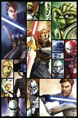 Star Wars Clone Wars Large Maxi Com  Poster New Fp2582 B70