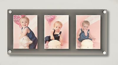 """5 x 7""""  Multi photo frame magnetic 7 x 5"""" picture  All colors Cheshire Acrylic"""