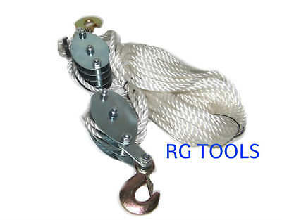 2 Ton Poly Rope Hoist Pulley Wheel Block And Tackle
