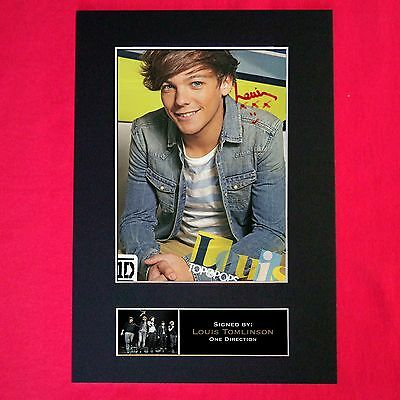 LOUIS TOMLINSON One Direction Signed Autograph Mounted Photo Repro A4 Print 290