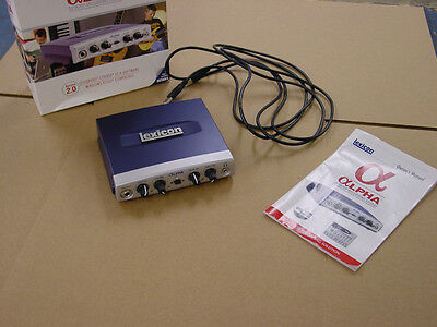 Lexicon Alpha USB Audio Interface Box
