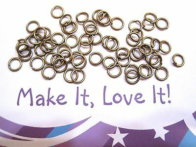 8mm x 1mm Antique Bronze Tone Closed Unsoldered Jump Rings 320+ 50g 100g