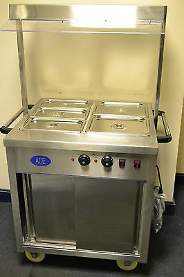 ACE NEW BUFFET CARVERY MOBILE BAIN-MARIE & HOT CUPBOARD ideal for any kitchen