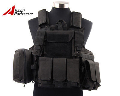Airsoft Tactical Military Hunting Molle Plate Carrier Strike Combat Vest Black