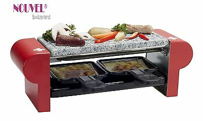 "Raclettegrill 2er Nouvel Swiss "" Stone ""  limited Swiss Edition rot"