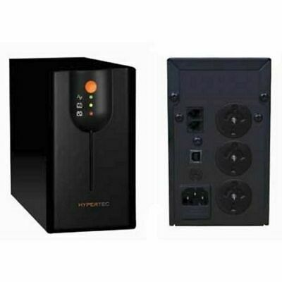 HYPERTEC UPS 1000VA 600W Standalone Back up Battery Surge Protection TEL USB
