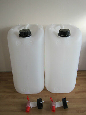 25 Litre New Water / Cider Container Jerry Can Food Grade with Self Venting Tap