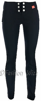 Ladies Work Girls School Trousers Sizes 6 8 1012 14 16 Skinny Leg Black Grey
