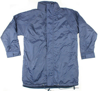 Fleece Lined Rain Jacket Size XS S M L XL 2XL 3XL Navy Coat Mens Ladies New!