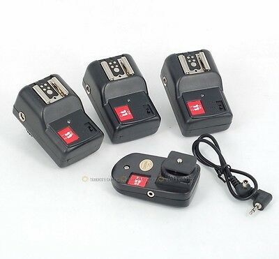 PT-04 GY 4 Channels Wireless/Radio Flash Trigger SET with 3 Receivers