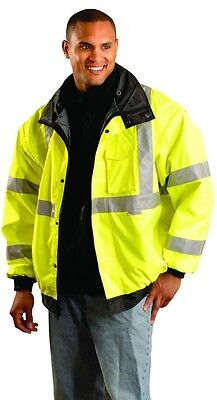 Occunomix LUX-TJBJ-YM HiViz Yellow And Black Class 3 Economic Jacket(M)