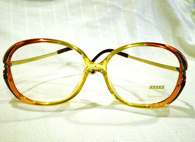 Vintage ZEISS EYEGLASSES RED HONEY GOLD 54-14-130 MADE IN  W.GERMANY