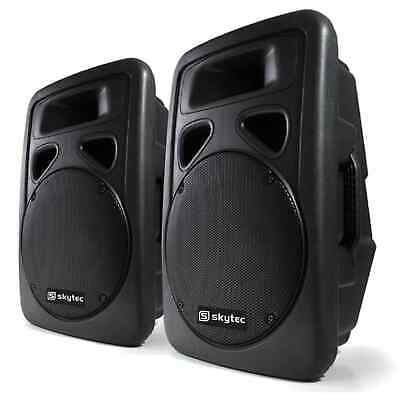 Pack Enceintes Moulees Amplifiees Sono Dj Pa Subwoofer 30Cm Systeme Actif 2200W