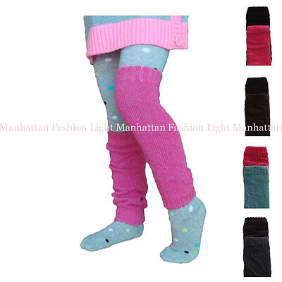 2 Pairs Kids,Girls/Boys/Ladies Stretch,Knit Leg Warmers.Pink/Blue,Black/Brown...