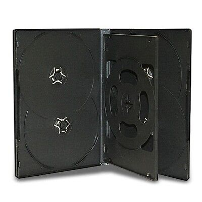 20 New Black Multi 6 Disc (hold 6 Discs) CD DVD Case Box Storage with Tray 14mm
