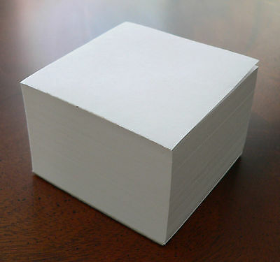 "Note Paper Refill Cube - Loose Sheets - ""Great for your Paper Holder"" ( Blank )"