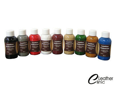 50 ml Leather Dye Paint  74 COLOURS + 25 Leather Finish