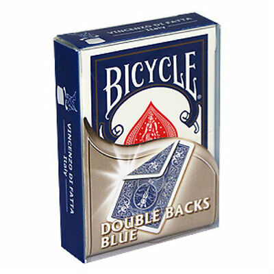 Bicycle Double Back Deck - Blue - Playing Cards - Magic Tricks - New