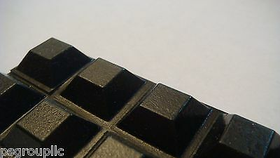 "50 SELF ADHESIVE RUBBER FEET SQUARE BLACK SMALL BUMPERS 0.5""  x 0.23"" + SAMPLES"