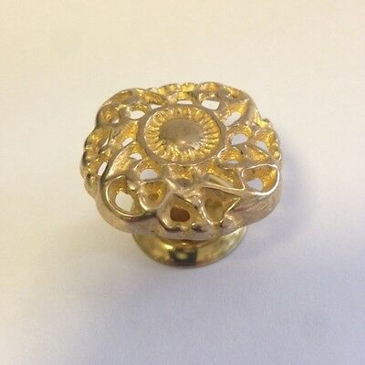 Victorian Cast Brass Furniture Knob, K-10B