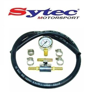 GENUINE SYTEC FUEL PRESSURE GAUGE TESTING KIT - 0-15 PSI / 0-1 Bar - FPGK100