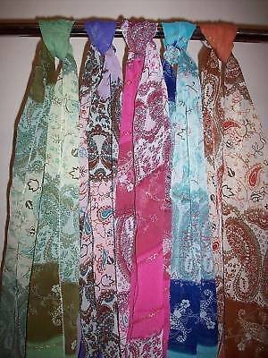 Wholesale Lot of 5 Ladies Paisley Chiffon Scarves