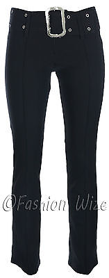 Girls Skinny School Trousers Black Grey Navy Sizes 6 8 10 12 14 Ages 7 to 16