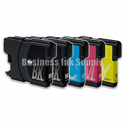 5 Pack NEW LC61 Ink Cartridges for brother printer LC61BK LC61C LC61M LC61Y LC61