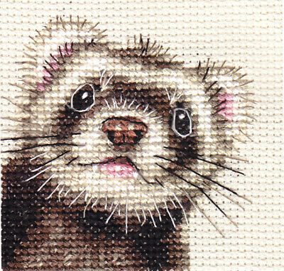 FERRET portrait~ Full counted cross stitch kit