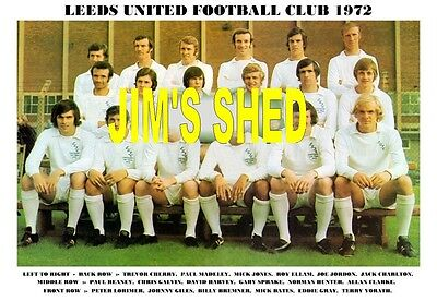 Leeds United F.c.team Print 1972 (Giles/reaney/clarke)