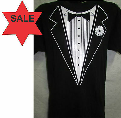 Black & White Tuxedo T-Shirt - Mens S, M, L, XL, 2XL 3XL 4XL Unisex  Ladies