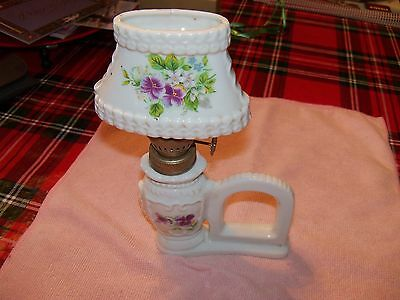 vintage mini oil lamp  NICE! in good cond.