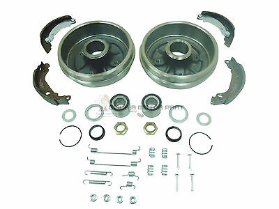 Peugeot 206 98-09 Rear 2 Brake Drums & Shoes Fitting Kit & 2 Wheel Bearing Kits
