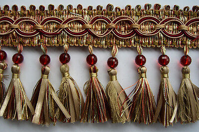 10 YD Beaded Trim Tassel for Drapery,Upholstery,Bedding