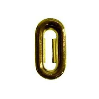 "Be-1E Stamped Brass Keyhole Insert  O.d. 1/2"" X 15/16"""