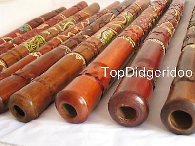 WITH SMALL SHALLOW CRACKS - Dot Painted&Carved Aboriginal Didgeridoo Great Sound