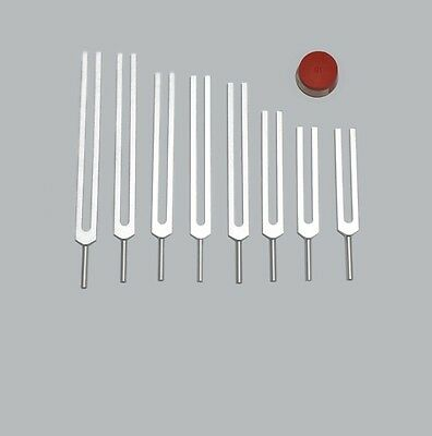 High Quality 8pc Fibonacci Tuning forks +Activator New for Sound Healing Therapy