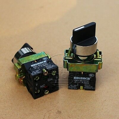 2Pcs ON/OFF Twist 2 Position Selector Switch