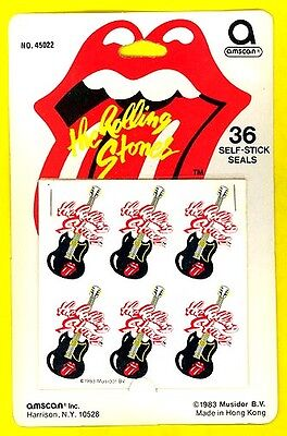 Rolling Stones the 1983 logo seals ORIGINAL PACKAGE mint condition