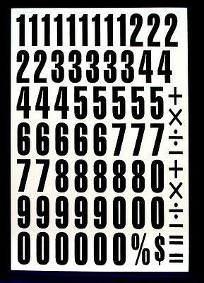 Magnetic Numbers LARGE 43mm High, for signs, school or home. Black & White