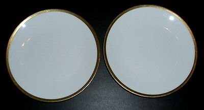 C. Ahrenfeldt Limoges Depose ~ Gold Band ~ Bread & Butter Plates ~ Set of 2