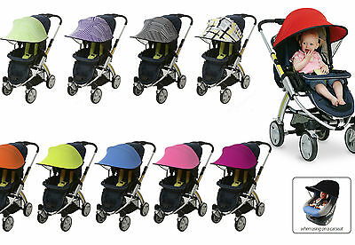 Sunshade/Sun canopy Pushchair Pram Stroller Car seat Bugaboo Quinny Baby Comfort