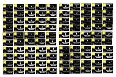100 Wholesale NIKON 2 Year Extnded Warranties for CoolPix Digital Cameras #5482